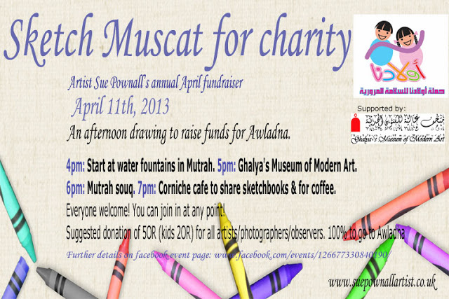 Sketch Muscat for charity