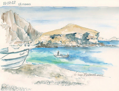 12.12.12 Qantab, A5 sketchbook © Sue Pownall 2012